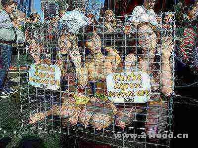 保护动物组织成员澳洲街头裸体抵制肯德基